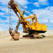 Mining industry machine - vintage excavator — Stock Photo