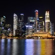 Stock Photo: Singapore at night