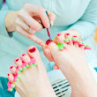 Pedicure in process — Stock Photo