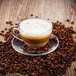 Cup of coffee latte — Stock Photo