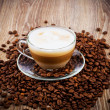 Stock Photo: Cup of coffee latte