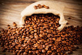The sack of coffee beans — Stock Photo
