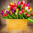Tulips in the box — Stock Photo #41837839