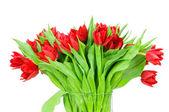 Ramo de tulipanes en el florero — Foto de Stock