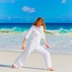Woman practicing yoga — Stock Photo #50202631