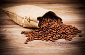 Sack of coffee beans — Stock Photo