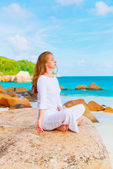 Donna meditando — Foto Stock