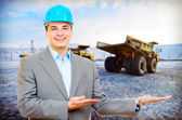 Photo of a mining engineer — Stock Photo