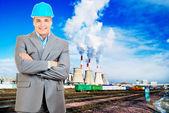 Ingeniero sonriente — Foto de Stock