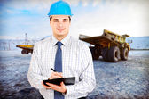 Photo of a mining engineer — Stock Photo