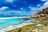 Praia de seychelles — Fotografia Stock