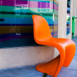 Orange chair — Stock Photo