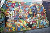 Graffiti in een muur — Stockfoto