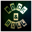 Rock and roll stencil. Graffiti, spray paint vintage retro letters. Graphics font. — Stock Photo #26896265
