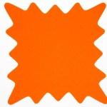 Blank orange star burst isolated on white. — Stock Photo #25819651