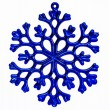 Blue snowflake ornament isolated on a white background. — Stock Photo