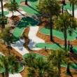 Stock Photo: Aerial view of miniture golf course.