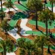 Aerial view of miniture golf course. — 图库照片 #35511415