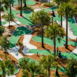 Aerial view of a miniture golf course. — Stock Photo