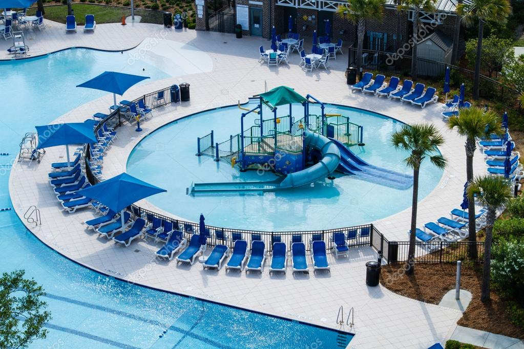 Aerial View Of A Swimming Pool Park Stock Photo Dawnamoore 35511503