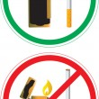 Sticker with no smoking sign - Stock Vector
