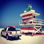 Miami beach rescue — Stock Photo