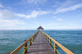Fijian Boat Jetty Over Tropical Waters — Stock Photo