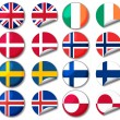 National flags — Stock Photo