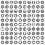 100 web icons — Stock Photo #23765025