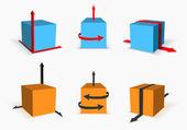 Box with arrow — Vector de stock