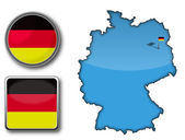 Vector map and flag of Germany — Stock Vector