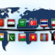 Map of world with national flags — Stock Photo #23776969