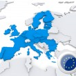 European union on map of Europe — Stock Photo