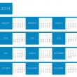 Calendar for year 2014 — Stock Photo