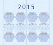 Calendar for year 2015 — Stock Photo