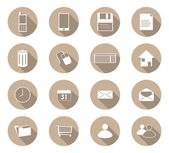 Flat design icons — Stock Vector