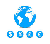 World currencies icons — Stock Vector