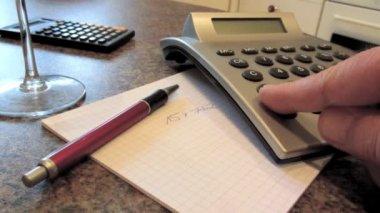 Using calculator — Stock Video