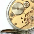 Stock Video: Close up of vintage clockwork