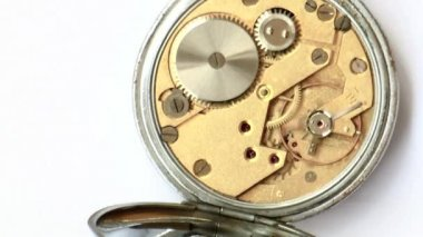 Close up of a vintage clockwork — Stock Video