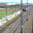 Stock Video: Travelling by trains in Germany