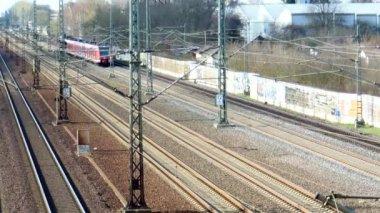 Commuter train — Stock Video