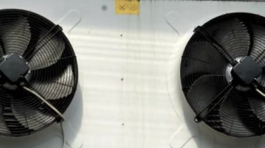 Rotating fans of air conditioning — Stock Video
