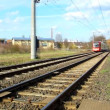 Stock Video: Tram line 7 drives through suburb of Cologne , Germany