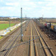 Stock Video: Cologne - circapril 2013 - Freight train with many containers