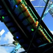 Stock Video: Cologne - may 12, 2013 - Swinging dragon at funfair