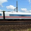 Cologne - circa june 2013 - German high speed train — Stock Video