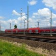 Stock Video: Cologne - circjune 2013 - Passing by rapid transit train