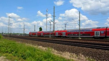 Cologne - circa june 2013 - Passing by rapid transit train — Stock Video