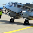 Stock Video: Cologne - june 2013 - Historic biplane De Havilland DH84 Dragon